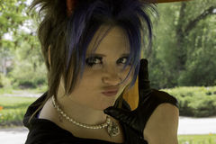 L. This Hot Gothic girl at the park Stock Images