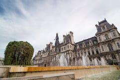 L'hotel de Ville è la costruzione dell'amministrazione a Parigi Immagine Stock Libera da Diritti