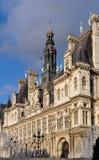 L'hotel de Ville a Parigi Fotografie Stock Libere da Diritti