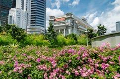 L'hotel di Fullerton, Singapore fotografie stock libere da diritti