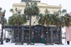 L'hotel di Vendue Una bufera di neve di 2018 Fotografia Stock