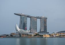 L'hotel meraviglioso di Marina Bay Sands, Singapore immagine stock libera da diritti
