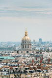 L'Hotel National des Invalides skyline over Paris Royalty Free Stock Images