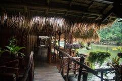 L'hotel sul fiume Kwai Fotografia Stock Libera da Diritti
