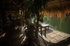L'hotel sul fiume Kwai Fotografie Stock Libere da Diritti