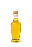 L'huile d'olive et les grains de tournesol vierges supplémentaires huile des pots d'isolement sur a Photo libre de droits