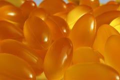 L'huile de poisson capsule le plan rapproché Photo libre de droits