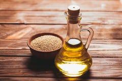 L'huile de sésame Images libres de droits