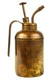 L'huile de vintage peut avec la poignée d'isolement sur le blanc Images libres de droits