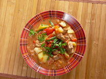 L Hungarian hot goulash soup Stock Image