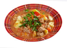L Hungarian hot goulash soup Stock Photography