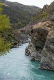 L'hurlement mégohm et x28 ; Te Wai un Korokio& x29 ; , Rivière de Kawarau, Otago central, île du sud du Nouvelle-Zélande Images libres de droits