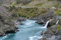 L'hurlement mégohm et x28 ; Te Wai un Korokio& x29 ; , Rivière de Kawarau, Otago central, île du sud du Nouvelle-Zélande Image libre de droits
