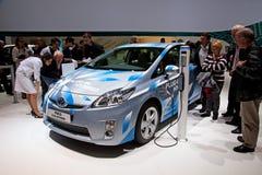 L'hybride de connexion de Toyota Prius Images stock