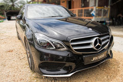 L'hybride de Mercedes Benz E300 BlueTEC image stock