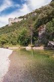 L ` Ibie山河在法国的Ardèche地区 免版税图库摄影