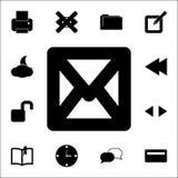 L'icône d'enveloppe ensemble universel d'icônes de Web pour le Web et le mobile illustration libre de droits