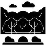 L'icône de Forest Park, illustration de vecteur, se connectent le fond d'isolement Image libre de droits