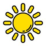 L'icône du soleil Images libres de droits