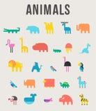 L'icône mignonne d'illustration de vecteur d'animaux a placé sur un fond blanc illustration libre de droits