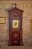 L'icône peinte dans l'Acropole d'Ialysos ceci est trouvée aux environs de la colline de Philerimos dans Ialysos Rhodes images stock
