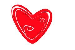 L'icône Valentine de coeur Coeur d'isolement sur le fond blanc, illustration Images stock
