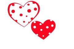 L'icône Valentine de coeur Coeur d'isolement sur le fond blanc, illustration Photo stock