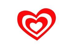 L'icône Valentine de coeur Coeur d'isolement sur le fond blanc, illustration Photo libre de droits
