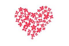L'icône Valentine de coeur Coeur d'isolement sur le fond blanc, illustration Photographie stock