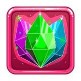 L'icône d'application avec des gemmes Photo stock