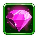 L'icône d'application avec les gemmes 2 Photo libre de droits