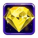 L'icône d'application avec les gemmes 3 Image libre de droits