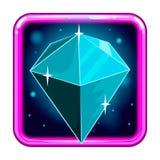 L'icône d'application avec les gemmes 4 Image libre de droits