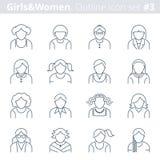 L'icône d'ensemble de personnes a placé 3 Image stock