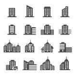 L'icône de bâtiment a placé 6, le vecteur eps10 Image stock