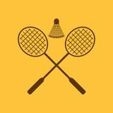 L'icône de badminton Symbole de sport plat illustration stock