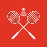 L'icône de badminton Symbole de sport plat Images stock