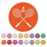 L'icône de badminton Symbole de sport plat illustration libre de droits