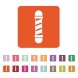 L'icône de Barber Pole Symbole de raseur-coiffeur plat Photographie stock libre de droits