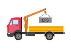 L'icône de camion d'excursionniste de camion d'emboutage d'Autotruck a isolé le camion d'emboutage Autotruck a isolé Machine de c Photo libre de droits