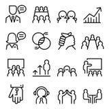 L'icône de conseil en affaires a placé dans la ligne style mince illustration libre de droits