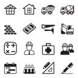 L'icône de construction a placé 3 Image stock
