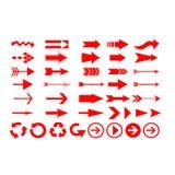 L'icône de flèches de direction Images stock