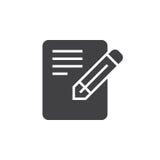 L'icône de formulaire de demande, éditent l'illustration solide de logo, pict Photographie stock