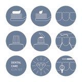 L'icône de soins dentaires a placé 01 Image libre de droits