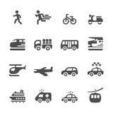 L'icône de transport et de véhicules a placé 6, le vecteur ENV 10 Image libre de droits