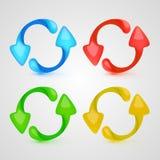 L'icône de vecteur régénèrent l'ensemble de couleur Image libre de droits