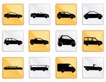 L'icône de voiture a placé 1 Photographie stock libre de droits