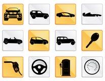 L'icône de voiture a placé 2 Images stock