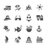 L'icône de voyage et de plage d'été a placé 2, le vecteur eps10 Image libre de droits